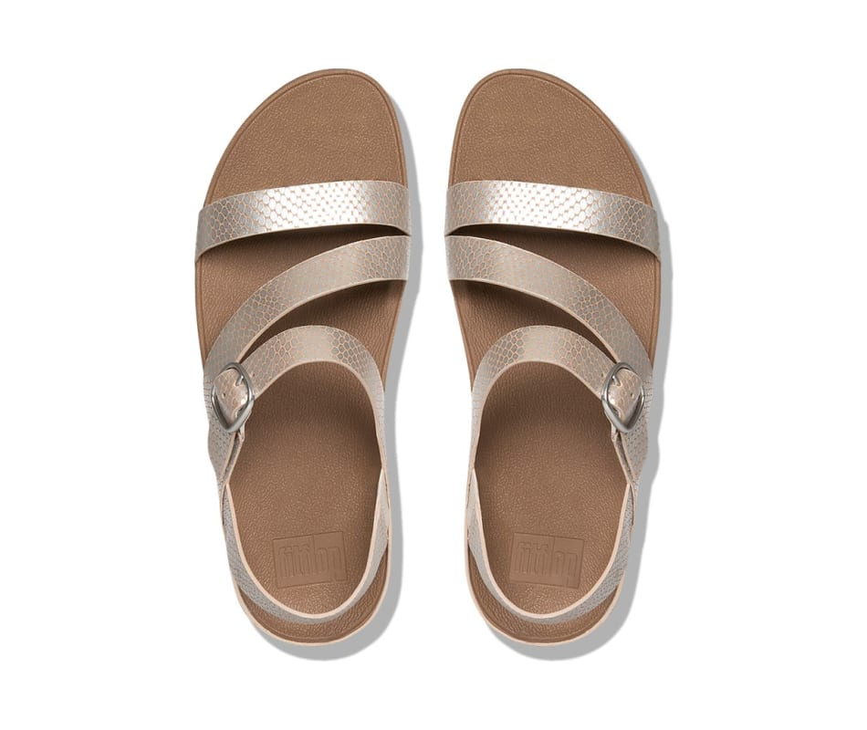 0aac7ea7c8d41f Fitflop Women s The Skinny Z-Cross Sandals - Silver Snake - 10