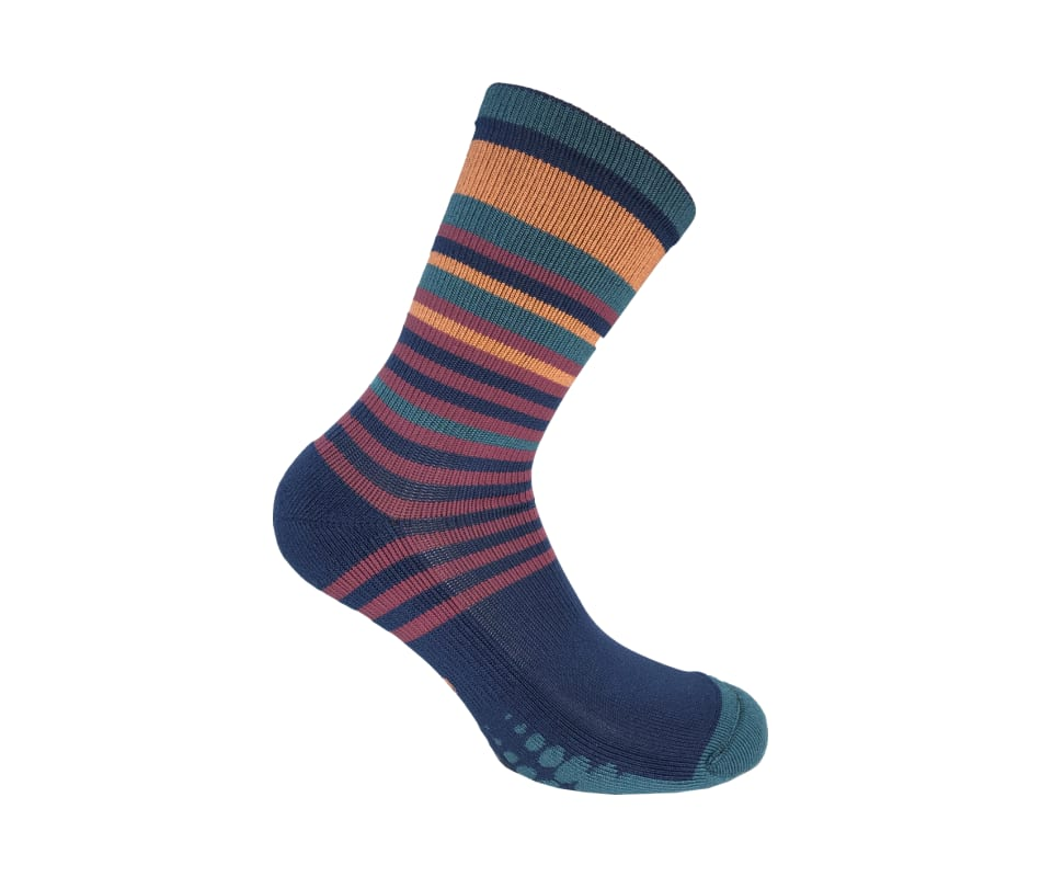 Striped Crew Compression Socks