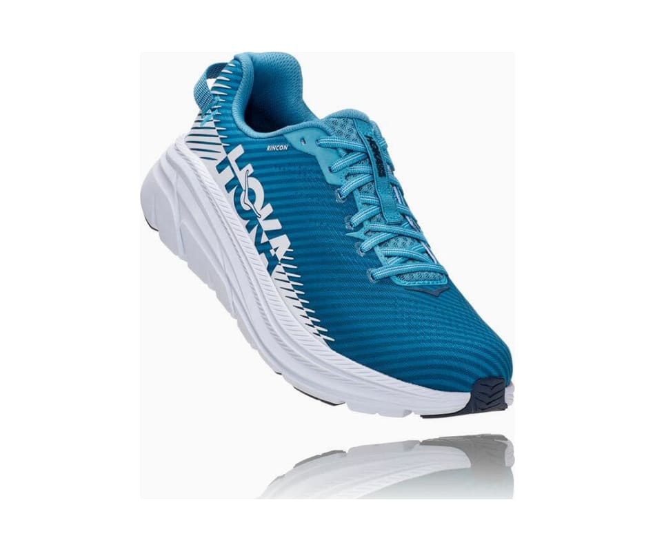Blue Moon//White, Numeric/_10/_Point/_5 HOKA ONE ONE Mens Rincon 2 Road Running Shoe