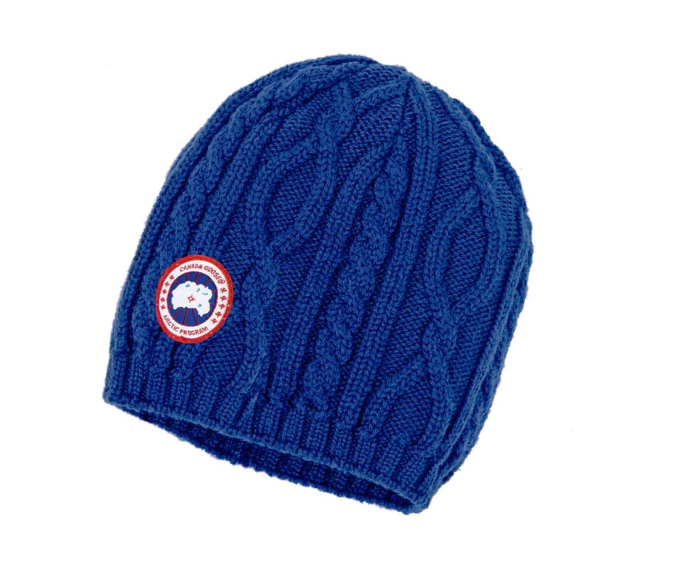 57d289c2b8f37 Canada Goose Merino Cable Beanie Pacific Blue - One Size