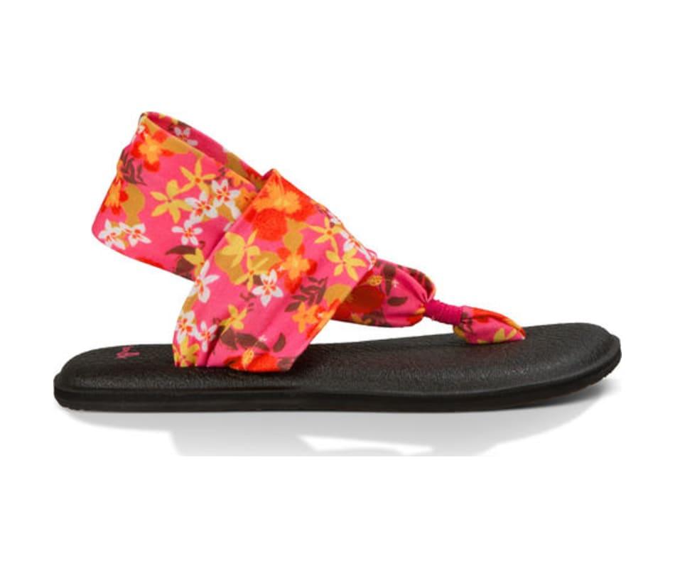 226d37e8a3fa Sanuk Women's Yoga Sling 2 Prints Paradise Pink Waikiki Floral - 10