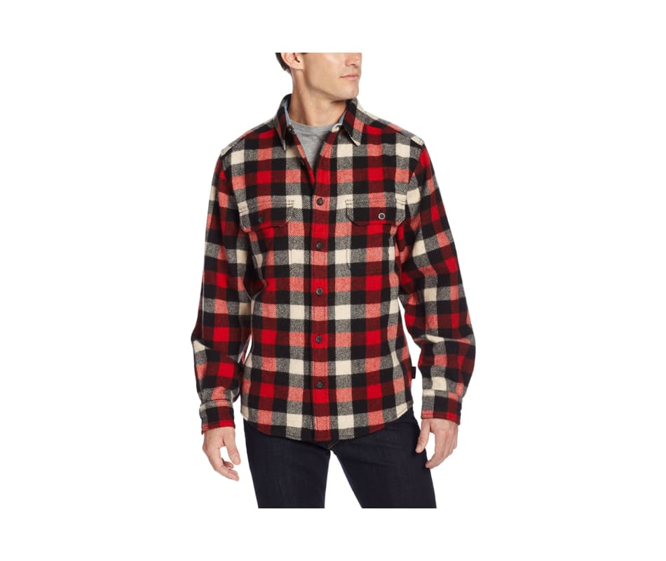 Men's Buffalo Check Wool Shirt