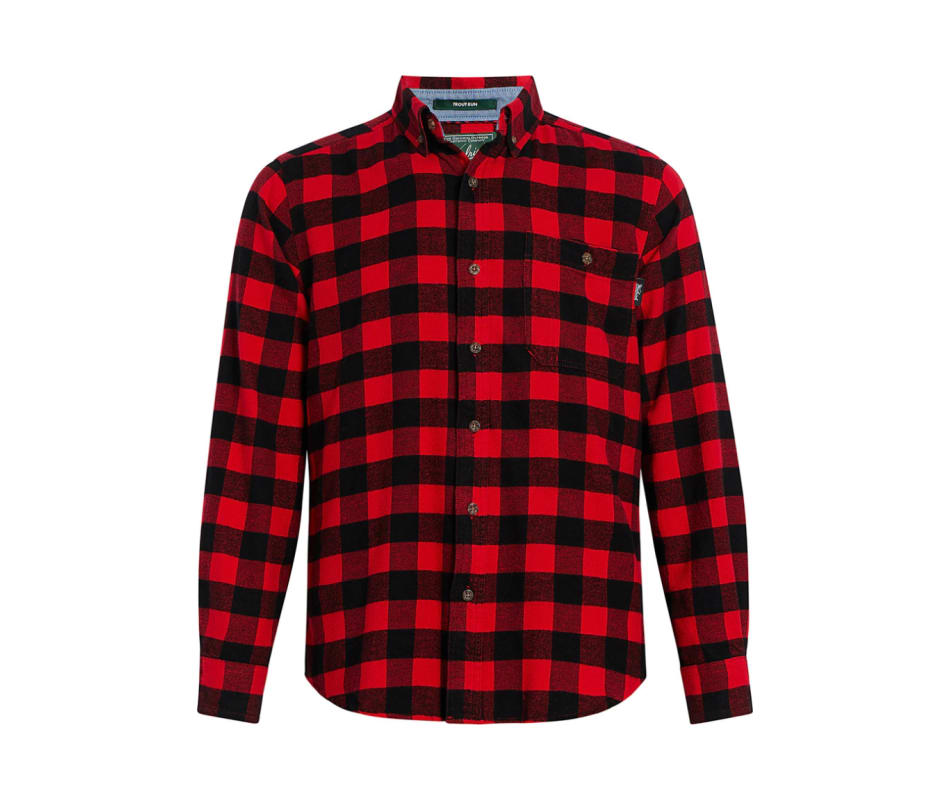 Men's Trout Run Flannel Shirt - Modern - Old Red Buffalo - S