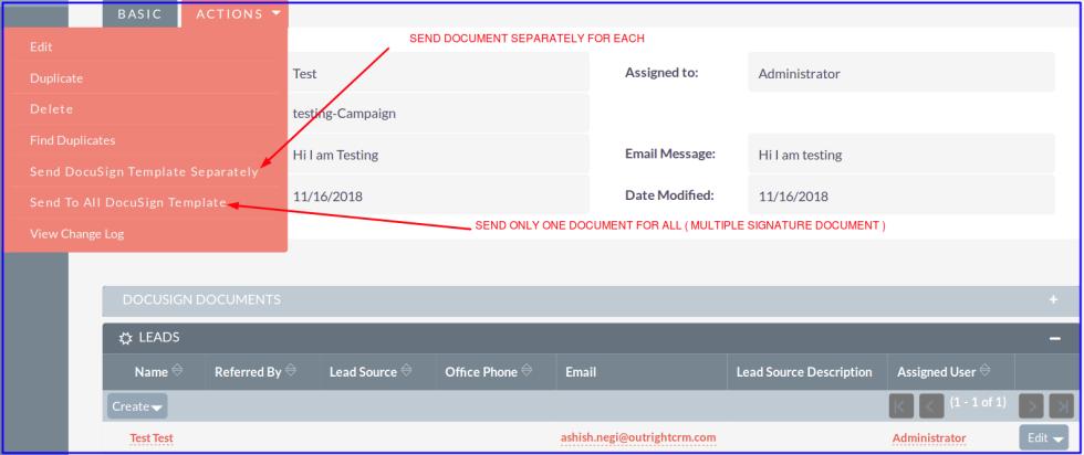 DocuSign Connector Send Document