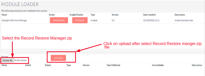 Record Restore Manager Select the Record Restore Manager Zip