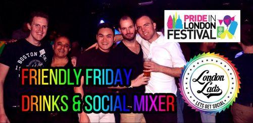 Pride in London Festival: Hawaiian-themed Friendly Friday drinks