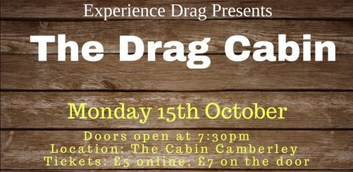 Experience Drag presents The Drag Cabin with Pride in Surrey
