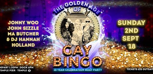 GAY BINGO BOAT PARTY