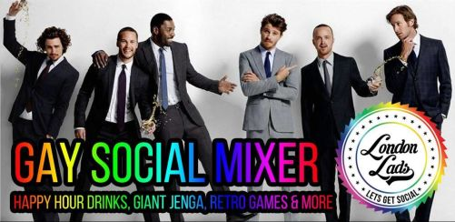 Gay social mixer, giant jenga & retro fun night