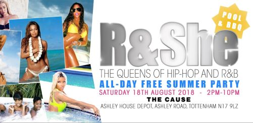 R & She: All-Day Free Summer Pool & BBQ Party!