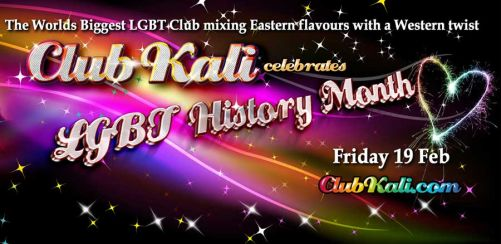 Club Kali Loves Valentine & LGBT History Month