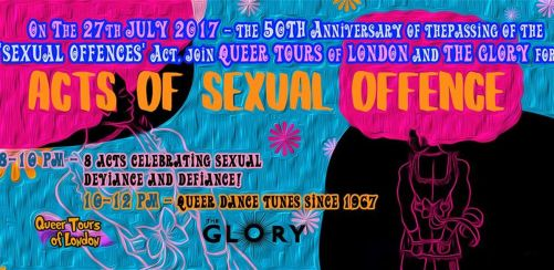 Queer Tours of London presents Acts of Sexual Offence @ The Glory