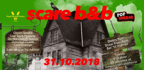 Scare B and B - PopHorrors Haunted Halloween Hotel
