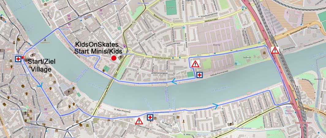 Strecke City Skate Basel