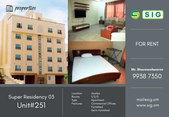 Super Residency 03 - Unit#251 - Azaiba