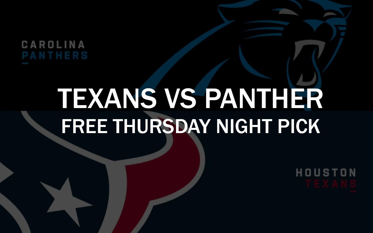 Panthers vs Texans Thursday Night Football, Free NFL Pick 2021