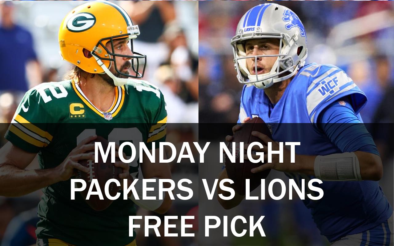 Detroit Lions vs Green Bay Packers Monday Night Free NFL Pick, 2021
