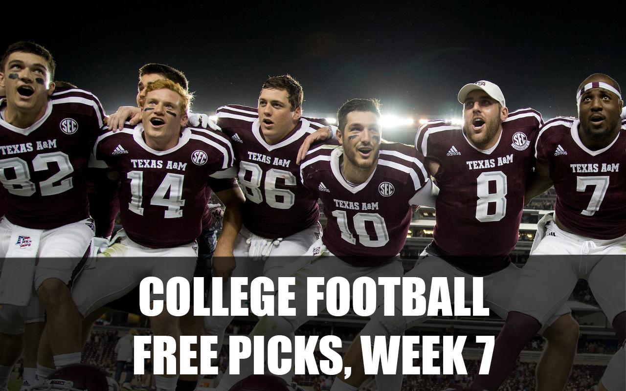 College Football Picks Free Picks, Week 7 of 2021