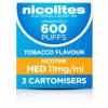 Nicolites 11mg 3 Cartomisers