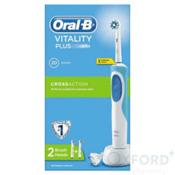 Oral B Vitality Plus CrossAction Rechargeable Toothbrush