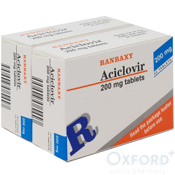 Aciclovir Dispersible 200mg For Cold Sores Outbreak 50 Tablets