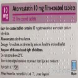 Atorvastatin 10mg 84 Tablets