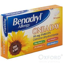 Benadryl One-A-Day Relief (Cetirizine) 14 Tablets