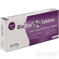 Biotess 5mg tablets 28 Biotin Vit B7 Hair Health