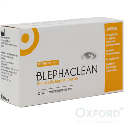 Blephaclean ready-to-use 20 preservative free wipes