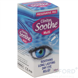Clinitas Soothe Multi Preservative Free 10ml