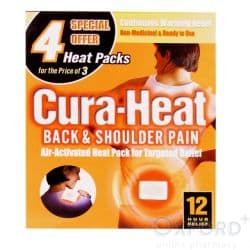 Cura-Heat Back and Shoulder Pain 3 Heat Packs