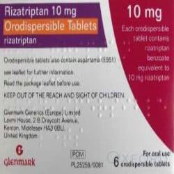 Rizatriptan 10mg 6 Orodispersible Tablet