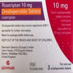Rizatriptan 10mg 3 Orodispersible Tablets