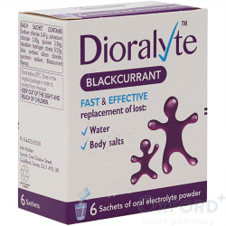 Dioralyte Blackcurrent 6 Sachets
