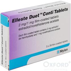 Elleste Duet Conti (Estradiol/Norethisterone) 2mg 84 Tablets