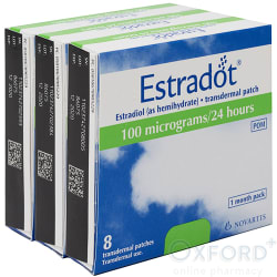 EstraDOT (Estradiol) 100mcg Patches 24