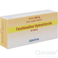 Fexofenadine 180mg 30 Tabs Skin