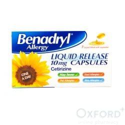 Benadryl Allergy (Cetirizine) 10mg Liquid Release 7 Capsules