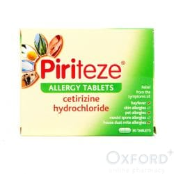 Piriteze Allergy (Cetirizine) One A Day 30 Tablets
