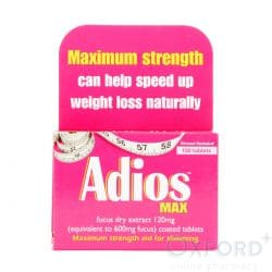 Adios Max 120mg 100 tablets