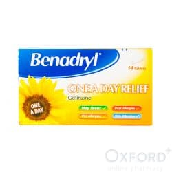 Benadryl One-A-Day Relief (Cetirizine) 14 Tablets