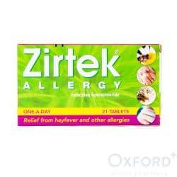 Zirtek Allergy Relief (Cetirizine) 21 Tablets