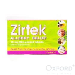 Zirtek Allergy Relief (Cetirizine) 7 Tablets