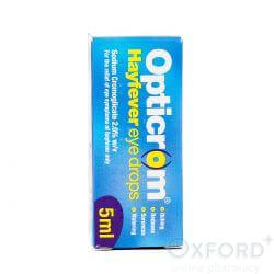 Opticrom Hayfever Eye Drops 5ml