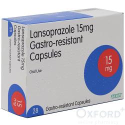 Lansoprazole 15mg Gastro-Resistant 28 Capsules