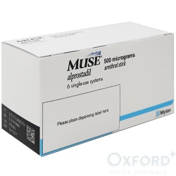 Muse (Alprostadil) 500mcg 6 Pellets