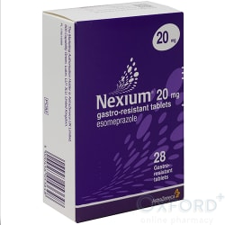 Nexium (Esomeprazole) 20mg Gastro-Resistant 28 Tablets