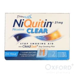 NiQuitin Clear 21mg 7 Patches