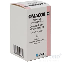 Omacor (Omega-3-Acid) 1000mg 28 Capsules