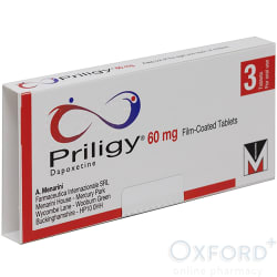 Priligy 60mg 3 Tablets (Dapoxetine)